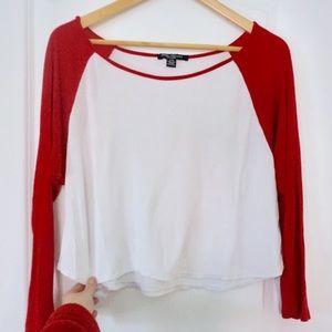 Red and White Baseball T-shirt